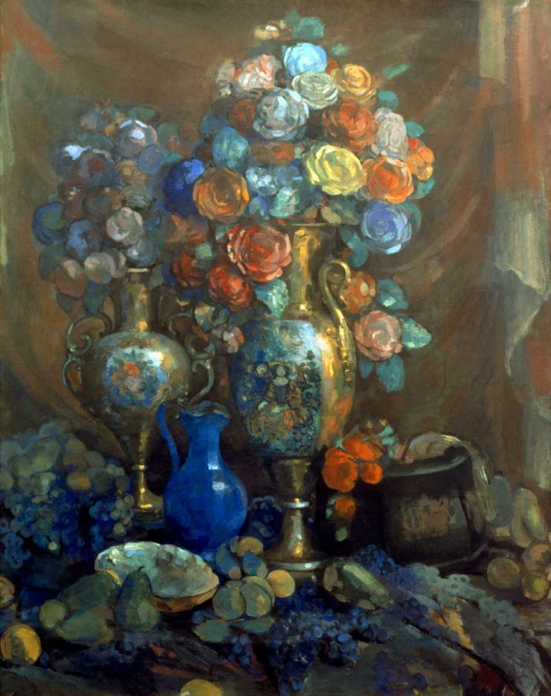 Vases, Flowers, Fruits, 1912