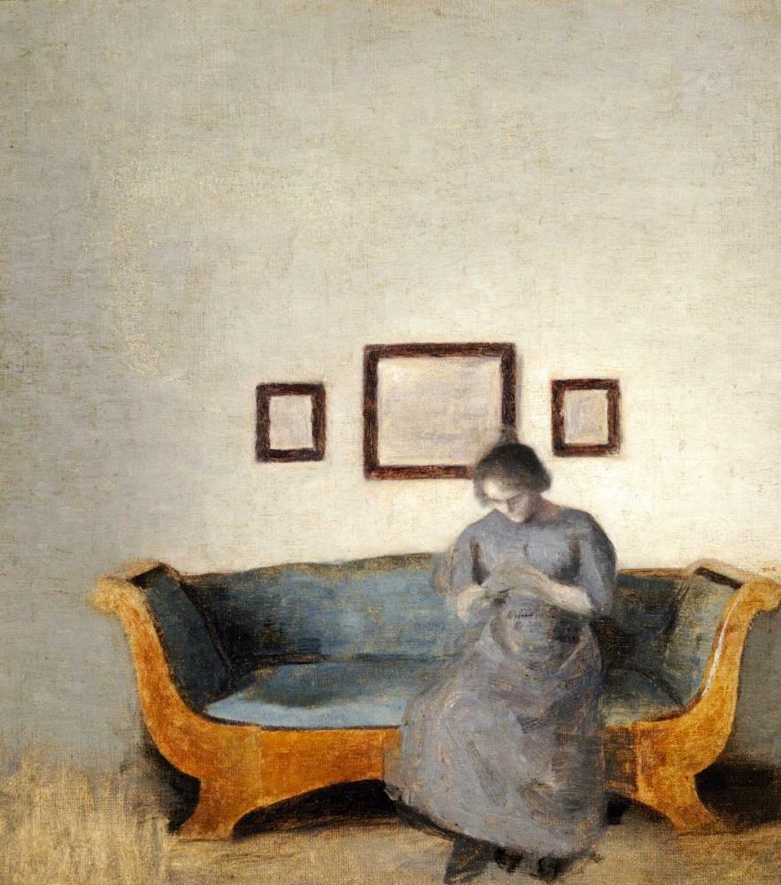 Ida Hammershoi Sitting On a Sofa