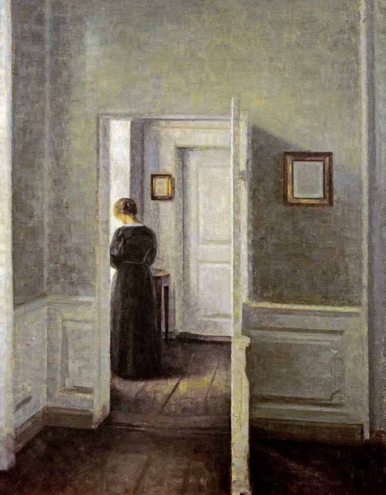 An Interior With a Woman