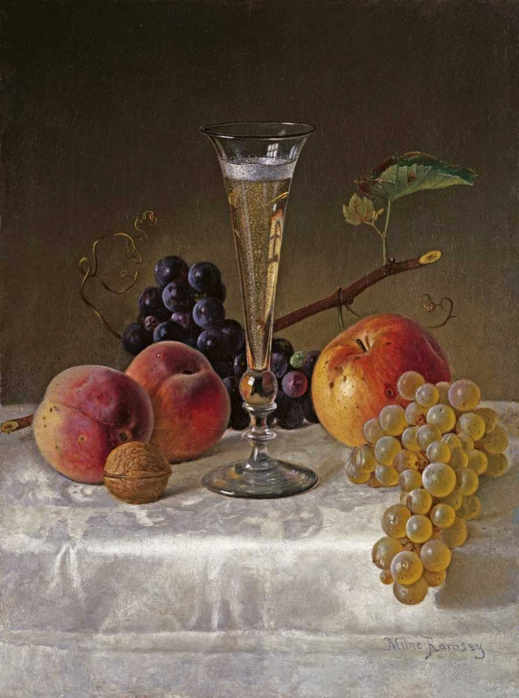 Still Life With Glass of Champagne