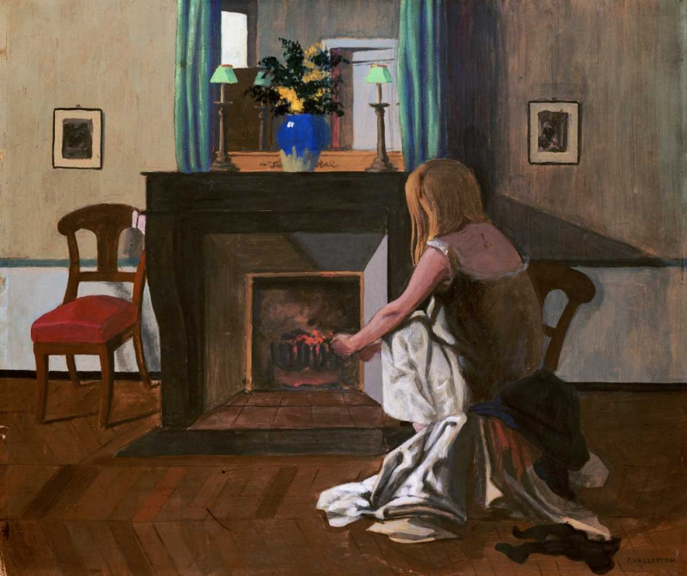Interior With a Woman In a Shirt