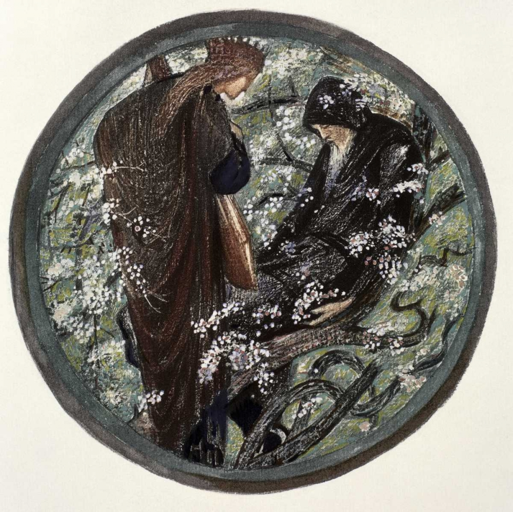 Witches Tree. Nimue Beguiling Merlin With Enchantment