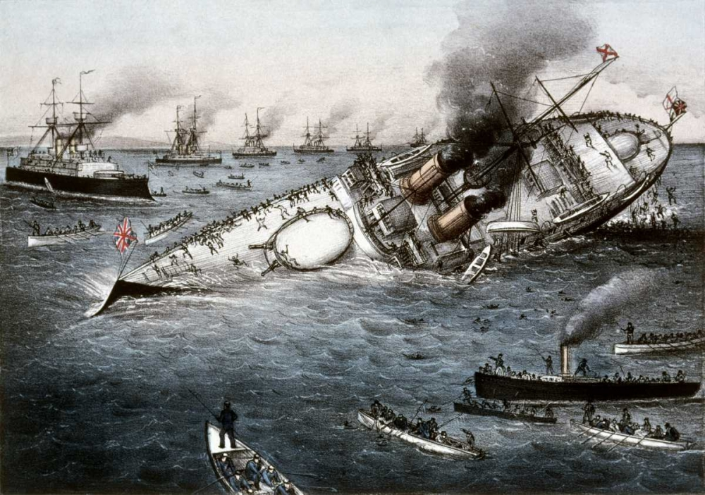 Sinking of The Battleship Victoria Off Tripoli,Syria, June 22, 1893