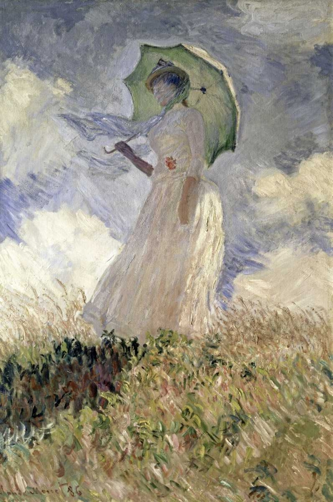 Woman with a Parasol Turned to the Left, 1886