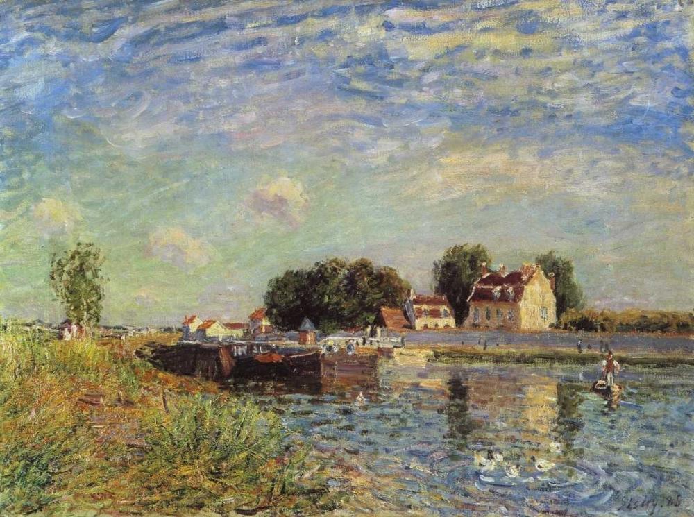Le canal du Loing a Saint-Mammes