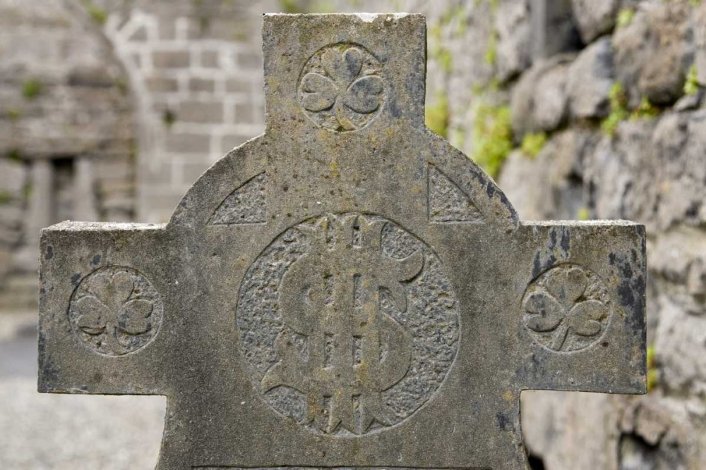 Ireland, Murrisk Celtic Cross at Murrisk Abbey