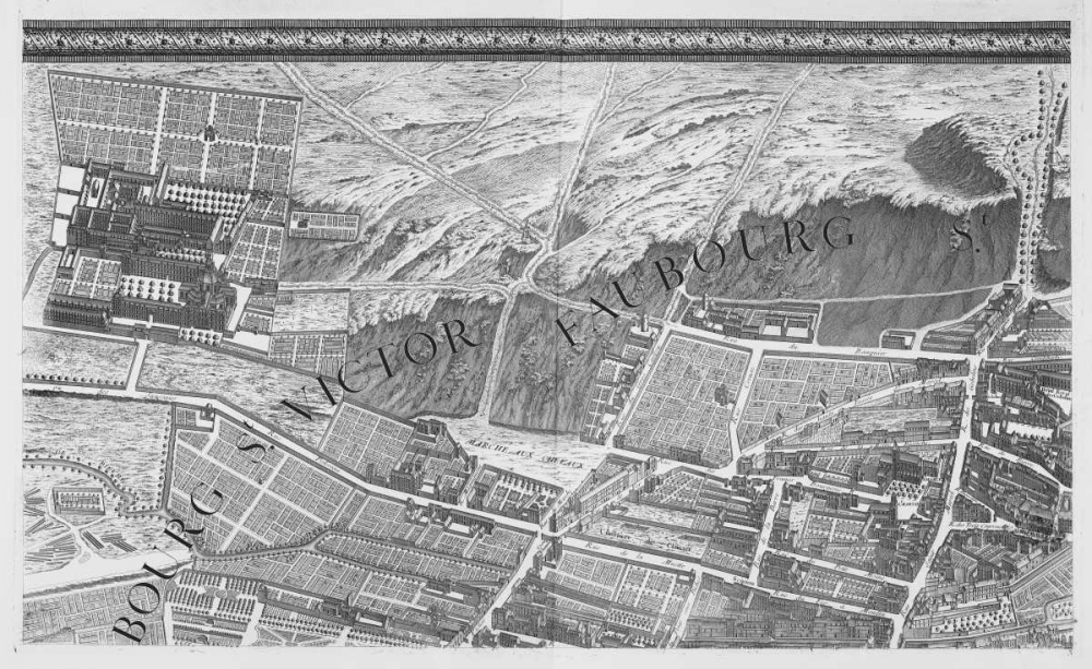 Paris 1739 Sectional map