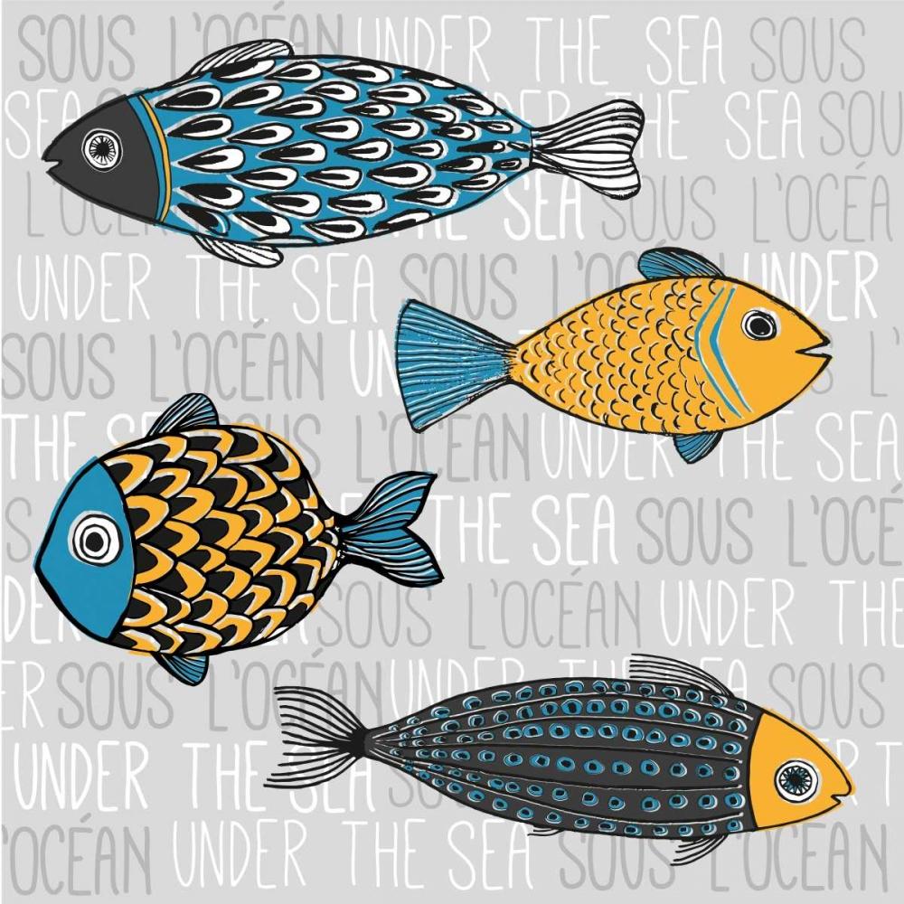 Illustration of Nautical Fishs