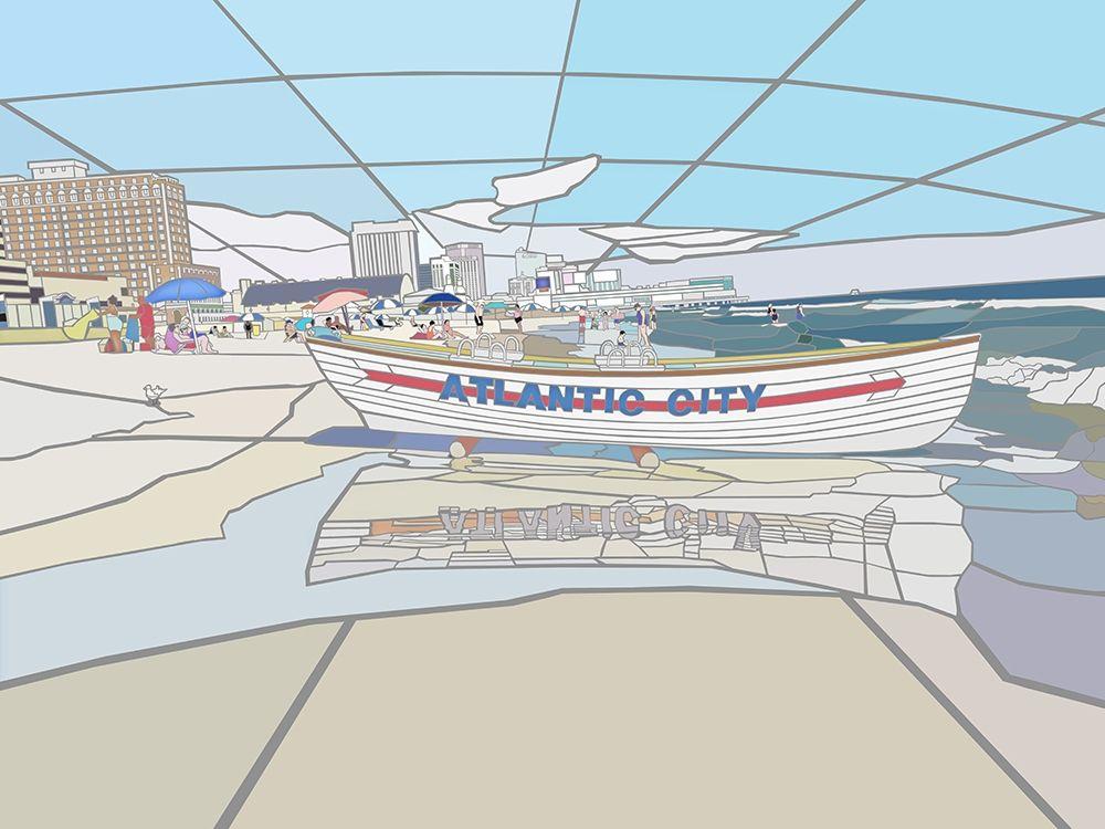 Atlantic City Beach Vista Scene