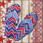 Patriotic Sarasota Sandals II