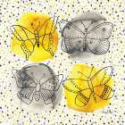 Gray and Yellow Butterflies I