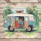 Retro Camping Van