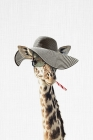 Giraffe Dressed in a Hat