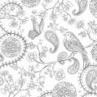 Color My World Bird Paisley square