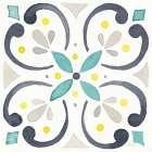 Garden Getaway Tile IV White