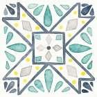 Garden Getaway Tile IX White