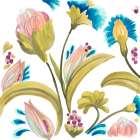 Abbey Floral Tiles I