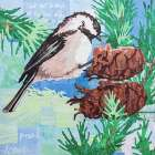 Chickadee Collage IV