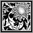 Printed Graphic Floral Motif II