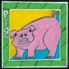 Whimsical Pig