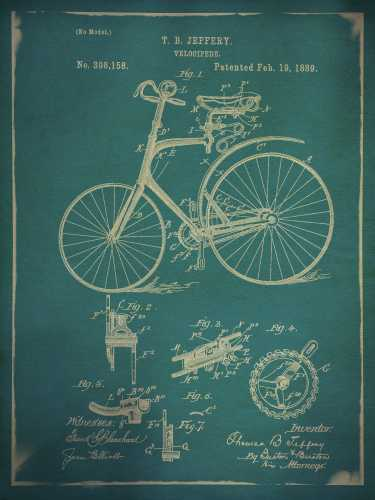 Bicycle Patent 2 Blue