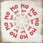 Ho Ho Ho on Wood