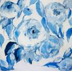 Blue and White Peonies