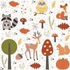 Fall Tree and Animal Pattern