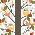 Fall Owls in a Tree
