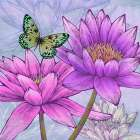 Nympheas and Butterflies (detail)