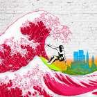 Surfin NYC (detail)