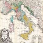 Map of Italy, 1742
