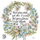 Boho Floral Wreath Sentiment I