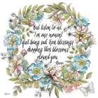 Boho Floral Wreath Sentiment II