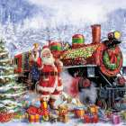 Santa and Red Train (Corti 30)