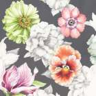 Floral Sketch on Grey
