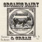 Farmhouse Grain Sack Label Cow