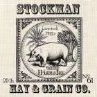 Farmhouse Grain Sack Label Pig