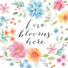 Whimsical Blooms Sentiment I
