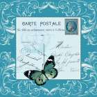 Butterfly Carte Postale Blue