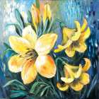Yellow lilies in Spring