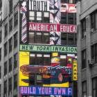Advertisements on building exterior, New York