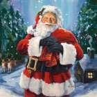 Santas Snowy Night