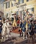 Washington Visiting Rochambeau at French Embassy