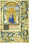 Virgin Enthroned between Angels: Book of Hours - Detail
