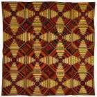 Quilt, Log Cabin Pattern, Pineapple variation