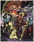 Space Explorers Battle a Beast - Preproduction Art By Wood, Unknown Film