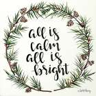 All is Calm Pinecone Wreath