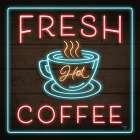 Neon Fresh Coffee