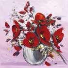 Bouquet de fleurs rouges III